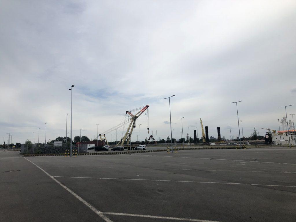 Testfeld zu Land am Cruise-Center Steinwerder - Testfläche A