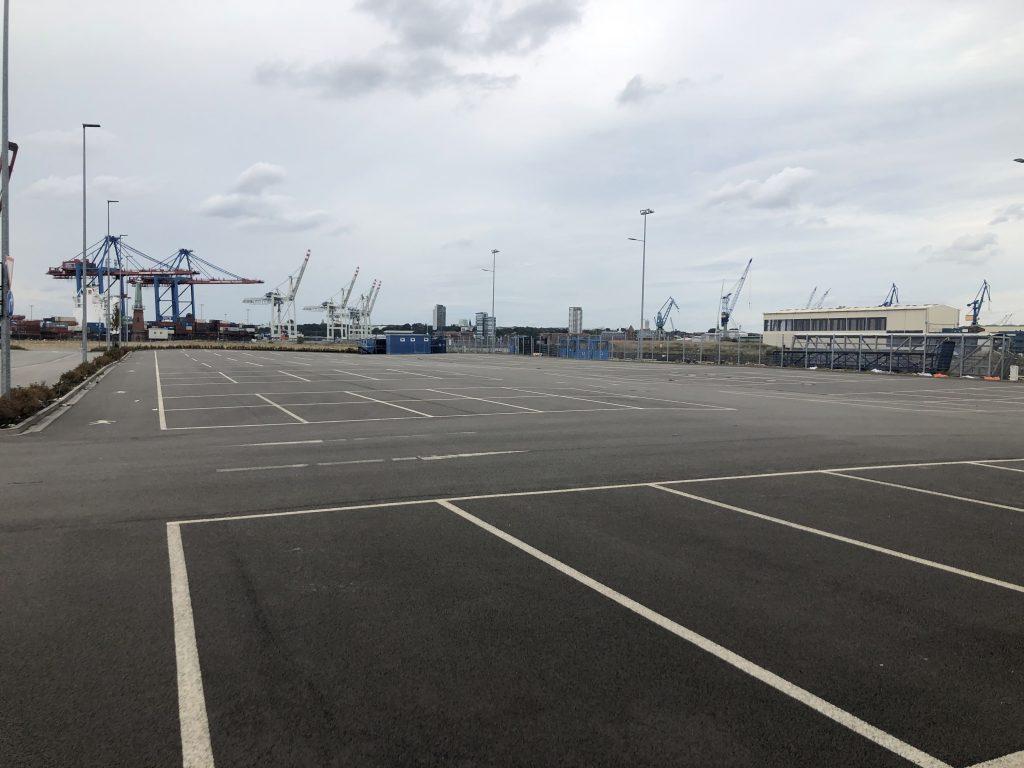 Testfeld zu Land am Cruise-Center Steinwerder - Testfläche B