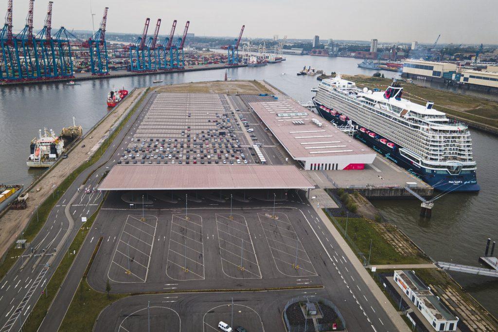 Testfeld Cruise Center Steinwerder - von oben